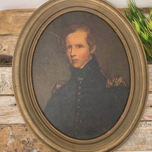 Vintage Oval Painting or Photo